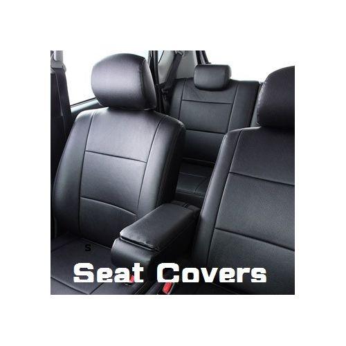 PU Leather Seat Covers Land Cruiser Prado Black RZJ